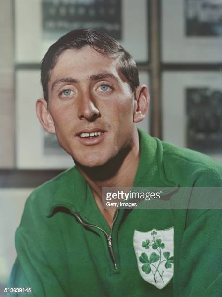 Ron Delany of Ireland winner of the 1500 metres Gold medal at the 1956 Melbourne Summer Olympics Games on 1st June 1958 in London Great Britain