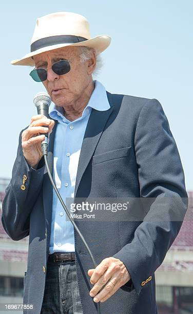 Ron Delsener attends the press preview of the newly restored Nikon At Jones Beach Theater after being damaged by Superstorm Sandy in October 2012 at...