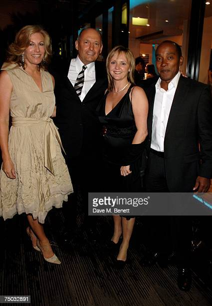 Ron Dennis and wife with Carmen Lockhart and Anthony Hamilton attend the F1 Party hosted by the Great Ormond Street Hospital Childrens Charity at The...