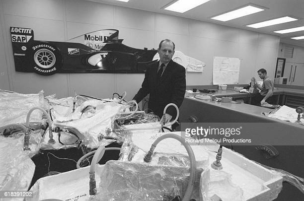 Ron Dennis in the workshops where 99% of Formula 1 pieces are made The engine is made elsewhere