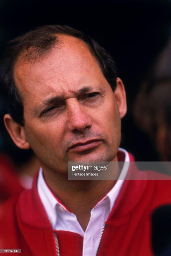 Ron Dennis, McLaren Formula 1 team manager, British Grand Prix, Silverstone, Northamptonshire, 1989. : News Photo
