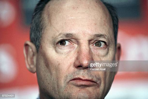 Ron Dennis, Team Principal of McLaren Mercedes and Chairman of the McLaren Group looks on during the McLaren Mercedes Press Conference to announce a...