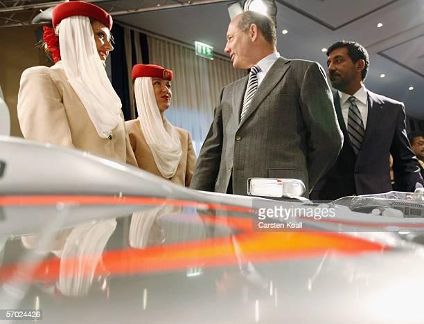Ron Dennis , Team Principal of McLarren Mercedes and Chairman of the McLarren Group, and His Highness Sheikh Ahmed bin Saeed Al-Maktoum , Chairman...