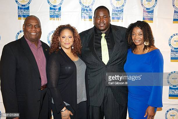 Ron E Hasson President of the Beverly Hills/Hollywood NAACP Kim Coles Quinton Aaron and Tia Boyd Exwcutive Producer of the Beverly Hills/Hollywood...