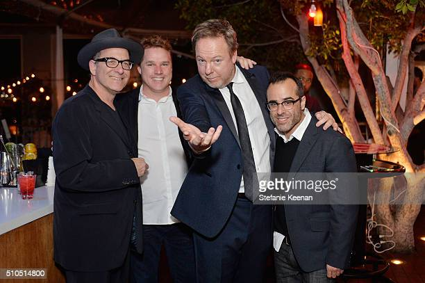 Ron Fair David Guillod Bruce Flohr and Steve Greener attends Red Light Management 2016 Grammy After Party presented by Citi at Mondrian Hotel on...