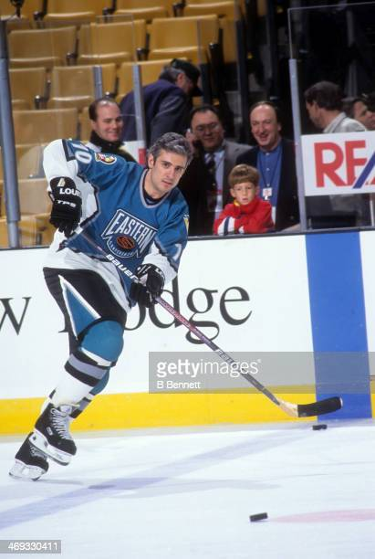 Ron Francis of the Eastern Conference and Pittsburgh Penguins skates on the ice before the 1996 46th NHL All-Star Game against the Western Conference...