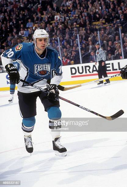 Ron Francis of the Eastern Conference and the Pittsburgh Penguins skates on the ice during the 1996 46th NHL AllStar Game against the Western...