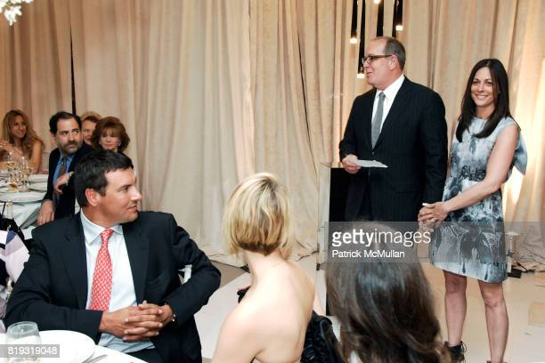 Ron Frasch and Wendy Kahn attend SAKS FIFTH AVENUE VALENTINO Host a Dinner to benefit SAVE VENICE at Saks Fifth Avenue on April 14 2010 in New York...