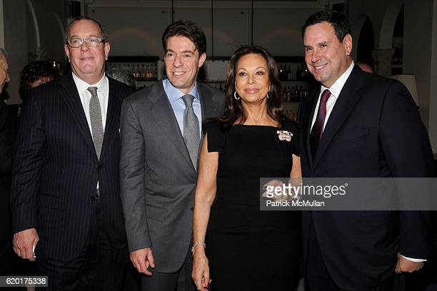 Ron Frasch Francois Graff AnneMarie Graff and Steve Sadove attend AMERICAN JEWISH COMMITTEE Honors LAURENCE GRAFF at Daniel on November 14 2008 in...