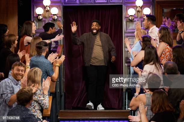 Ron Funches greets the audience during 'The Late Late Show with James Corden' Thursday February 8 2018 On The CBS Television Network