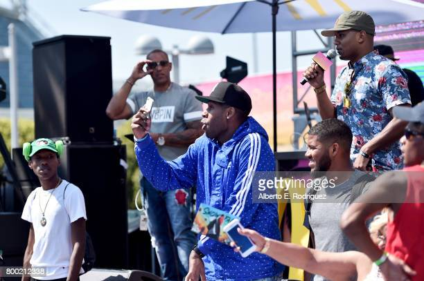 Ron G and fans attend day one of the Pool Groove sponsored by McDonald's during the 2017 BET Experience at Gilbert Lindsey Plaza on June 23 2017 in...