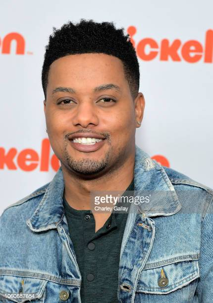 Ron G attends Nickelodeon' Holiday Party With Casts Of Cousins For Life And Henry Danger at Nickelodeon Studios on November 10 2018 in Burbank...
