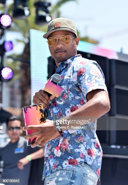 Ron G speaks at day one of the Pool Groove sponsored by McDonald's during the 2017 BET Experience at Gilbert Lindsey Plaza on June 23 2017 in Los...