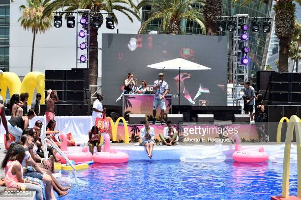 Ron G speaks at day one of the Pool Groove, sponsored by McDonald's, during the 2017 BET Experience at Gilbert Lindsey Plaza on June 23, 2017 in Los...