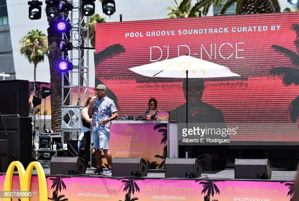 Ron G speaks onstage at day one of the Pool Groove, sponsored by McDonald's, during the 2017 BET Experience at Gilbert Lindsey Plaza on June 23, 2017...