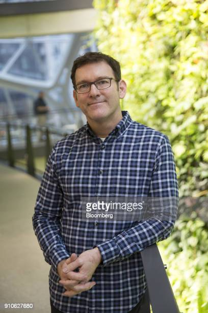 Ron Gagliardo senior manager of horticultural services at Amazoncom Inc stands for a photograph inside an Amazon Sphere in Seattle Washington US on...