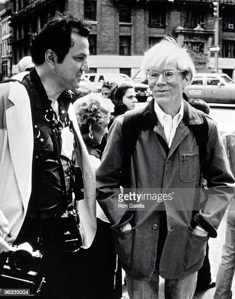 Ron Galella and Andy Warhol