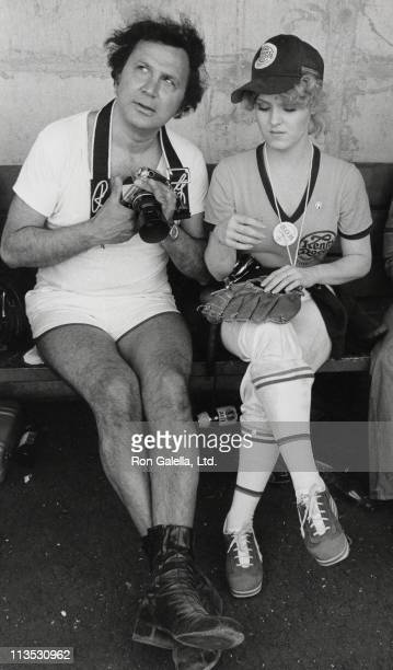 Ron Galella and Bernadette Peters during Golden Nugget's 5th Annual Celebrity Softball Game at University of Nevada in Las Vegas Nevada United States