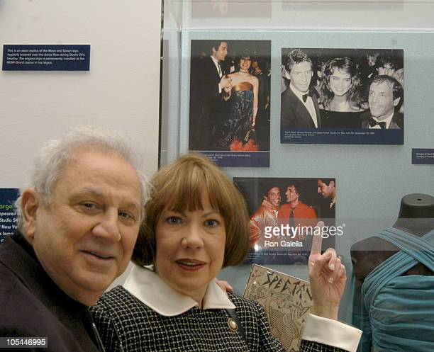 Ron Galella and Betty Galella during Exhibition of DISCO A Decade of Saturday Nights at Donald and Mary Oenslager Gallery in New York City New York...