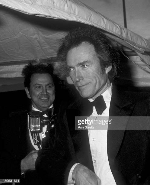 Ron Galella and Clint Eastwood attend ABC TV Entertainment Awards on March 14 1981 at Delisu Studios in Hollywood California