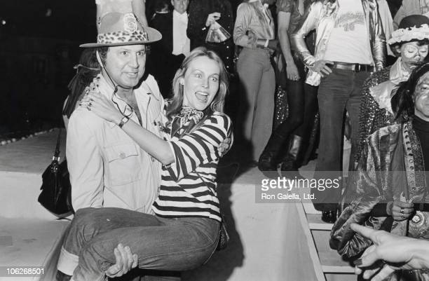Ron Galella and Cornelia Sharpe during Magic Fantasy and Dreams Costume Ball - October 25, 1975 at 68th Street Armory, New York City in New York...