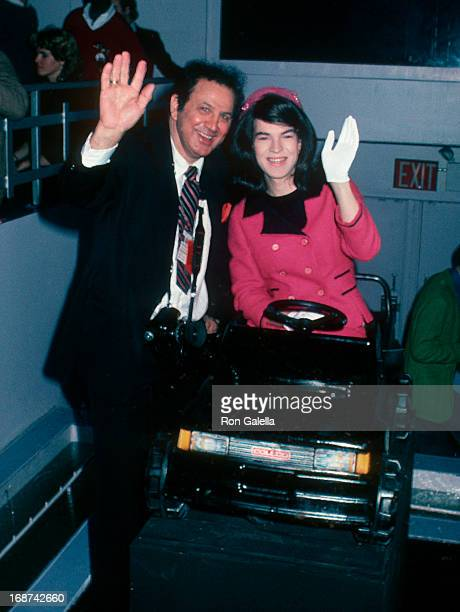 Ron Galella and Jackie Onassis LookALike attend Zoli Modeling Agency Party on November 8 1984 at Area Nigh Club in New York City