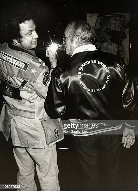 Ron Galella and Jilly Nistro during Dogders Party at Le Mirage Restaurant at Le Mirage Restaurant in Los Angeles California United States