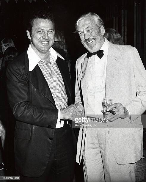 Ron Galella and John Huston during Fat City New York City Premiere at Museum of Modern Art in New York City New York United States