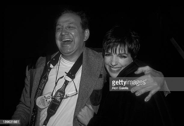 Ron Galella and Liza Minnelli attend 20th Annual Theater Hall of Fame Induction Ceremony on February 11 1991 at the Gershwin Theater in New York City