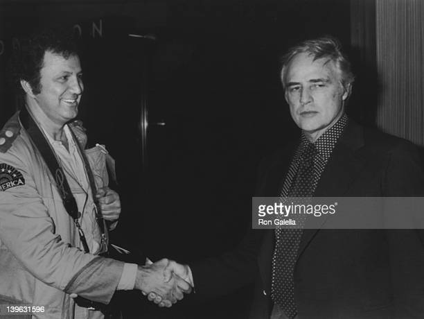 Ron Galella and Marlon Brando sighted on November 6 1977 at the Pierre Hotel in New York City