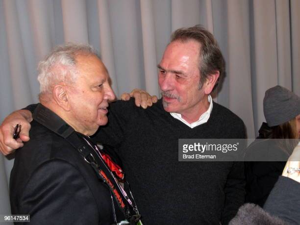 Ron Galella and Tommy Lee Jones attend the premiere of Smash His Camera at the Temple Theater on January 23 2010 in Park City Utah