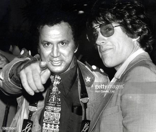 Ron Galella and Warren Beatty during 31st Annual Writers Guild of America Awards at Beverly Hilton Hotel in Beverly Hills California United States