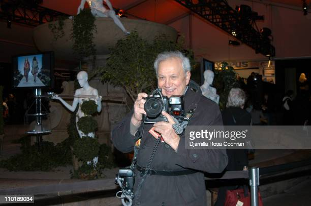 Ron Galella during Olympus Fashion Week Fall 2004 Seen at Bryant Park Day 3 at Bryant Park in New York City New York United States