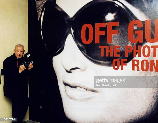 Ron Galella during Opening of Ron Galella Retrospective at the Warhol Museum of Art at The Warhol Museum of Art in Pittsburgh Pennsylvania United...