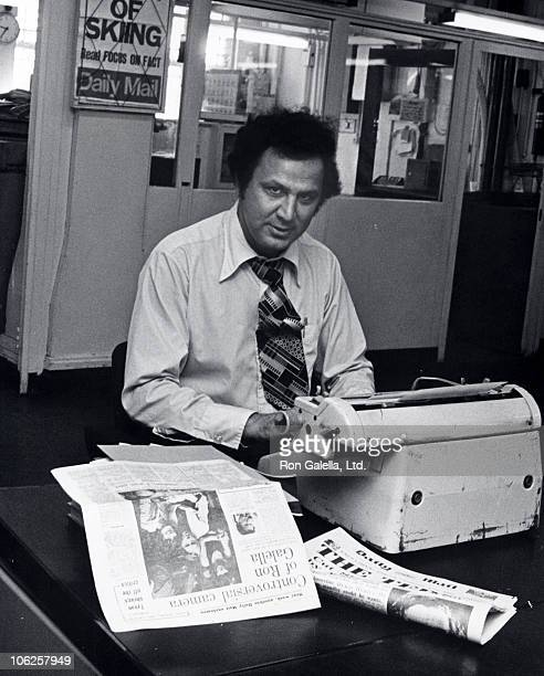 Ron Galella during Ron Galella Sighting at 'The London Daily Mail' October 27 1976 at Office of 'The London Daily Mail' in London England United...
