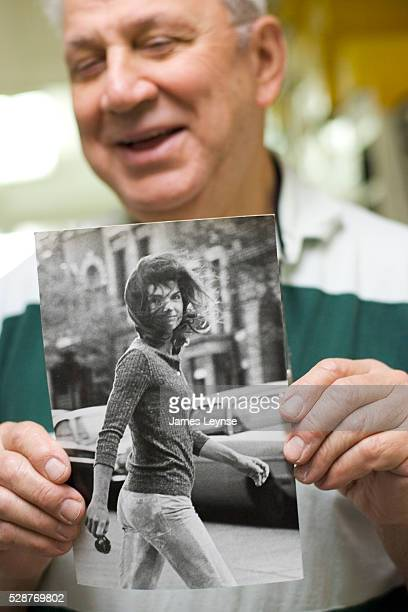 Ron Galella in his archives with his most famous picture 'Windblown Jackie' Ron Galella is most famous for his dogged pursuit to photograph...