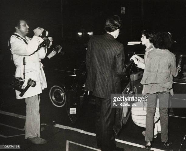 Ron Galella Mick Jagger and Jerry Hall during Mick Jagger and Jerri Hall Sighting in New York City June 14 1978 at in New York City New York United...