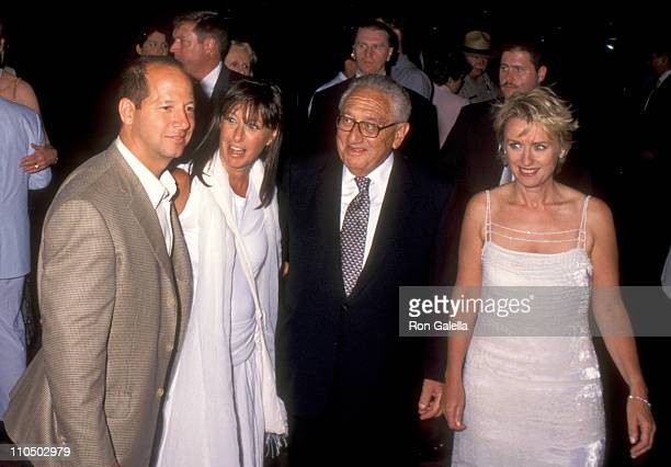 Ron Galotti guest Henry Kissinger and joustnalist Tina Brown attend the launch party for Talk Magazine on August 2 1999 at Liberty Island in New York...
