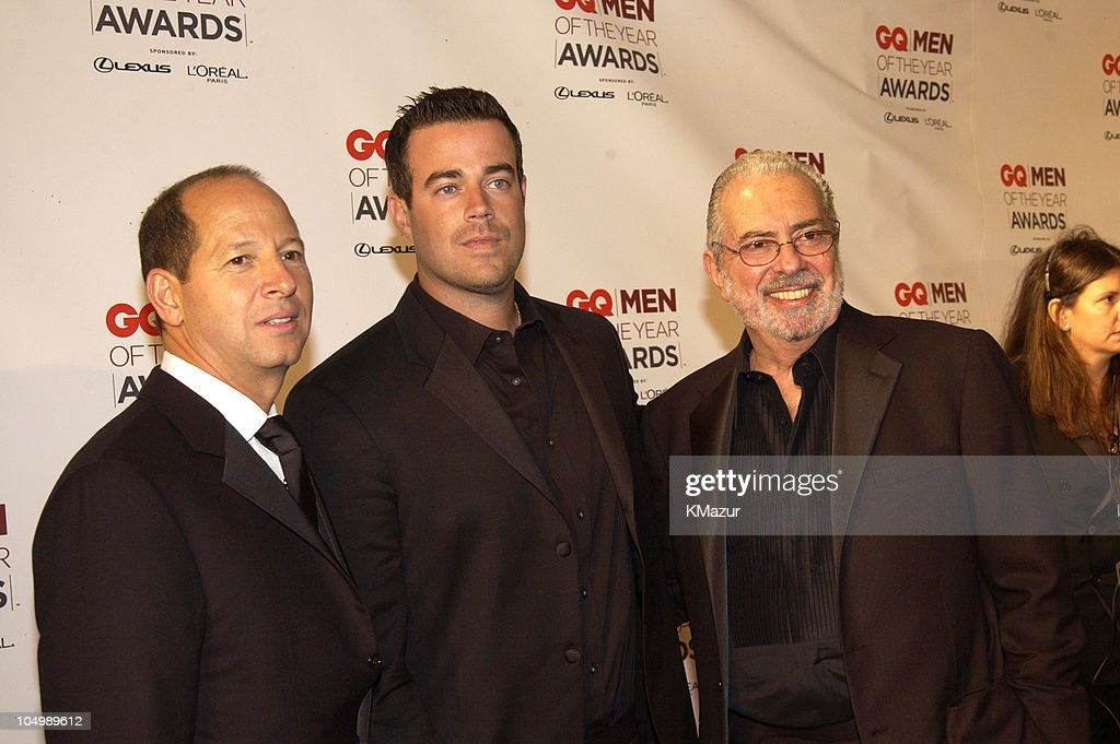 Ron Galotti, vice-president/publisher of GQ Magazine, Carson Daly and Arthur Cooper, editor-in-chief of GQ Magazine