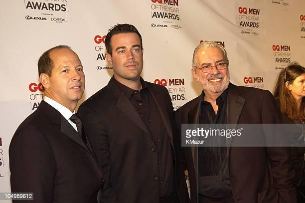 Ron Galotti vicepresident/publisher of GQ Magazine Carson Daly and Arthur Cooper editorinchief of GQ Magazine
