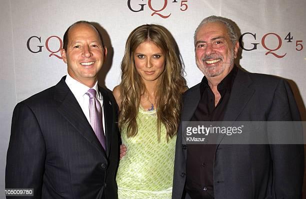 Ron Galotti vicepresident/publisher of GQ Magazine Heidi Klum and Art Cooper editorinchief of GQ Magazine