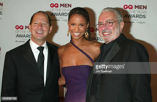Ron Galotti vicepresident/publisher of GQ Magazine Joy Bryant and Arthur Cooper editorinchief of GQ Magazine