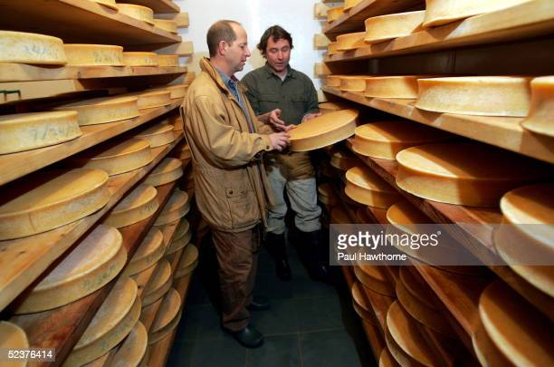 Ron Galotti visits his friend John Putnam at his Thistle Hill Farms cheese house January 19 2005 in North Pomfret Vermont