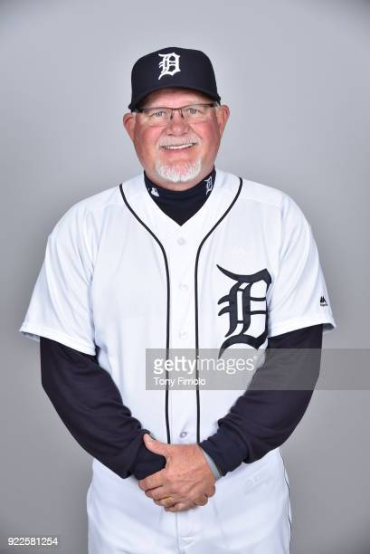 Ron Gardenhire of the Detroit Tigers poses during Photo Day on Tuesday February 20 2018 at Publix Field at Joker Marchant Stadium in Lakeland Florida