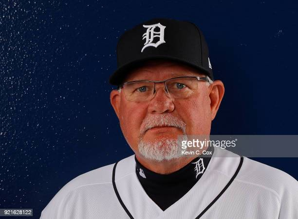 Ron Gardenhire of the Detroit Tigers poses for a photo during photo days on February 20 2018 in Lakeland Florida