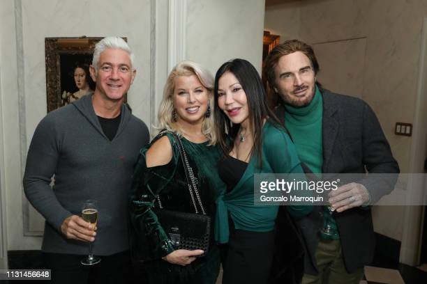 Ron Geffner Rita Cosby Jane Scher and Doug Troland attend Martin and Jean Shafiroff Host St Patrick's Day Cocktails Party in Honor of Stony Brook...