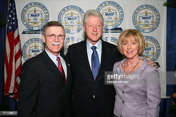 Ron Getteifinger, President International Union, UAW,Hon. William J. Clinton, Former United States President, and Wife Mrs. Getteilfinger