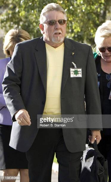 Ron Grantski stepfather of Laci Peterson arrives in morning for closing arguments at the Scott Peterson murder trial at the San Mateo County...