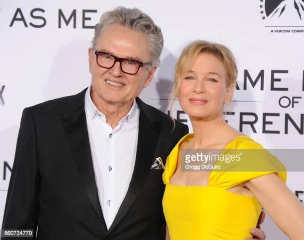 Ron Hall and Renee Zellweger arrive at the premiere of Paramount Pictures and Pure Flix Entertainment's Same Kind Of Different As Me at Westwood...