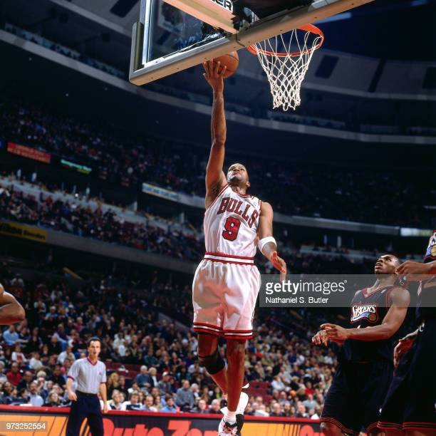 Ron Harper of the Chicago Bulls shoots during a game played on November 1 1997 at the First Union Arena in Philadelphia Pennsylvania NOTE TO USER...